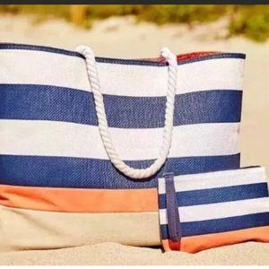 Dsw beach bag & wristlet: Used once
